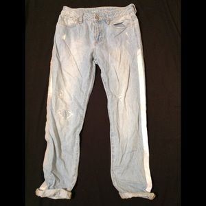 Girl's size 14 GAP girlfriend distressed jeans